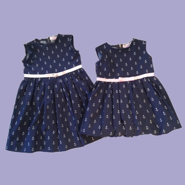 Anchor's Aweigh Big Sister/Little Sister Dress Set